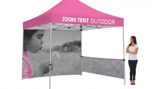 Custom printed tent, canopy and walls avaliable