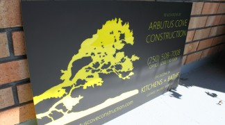 Bright yellow plexi with a matte black overlay.