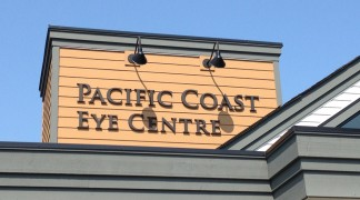 These black foam letters are part of another building we branded.