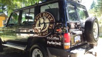 Buzz Coffee Shop partial vehicle wrap, can't go wrong with coffee beans!