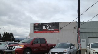 Another oversized or grand format, seamless banner for Newcastle Nissan, we designed this one too!