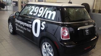 One of two display vehicles we did for Mini Nanaimo.