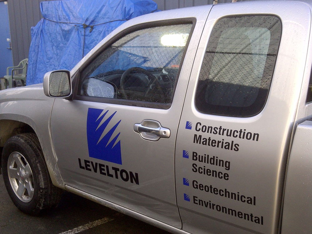 We matched the fleet decals for this large companies local truck