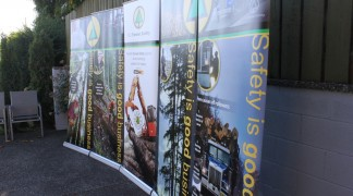 BC Forest Safe got 5 banner stands go go to the many trade shows they attend each year