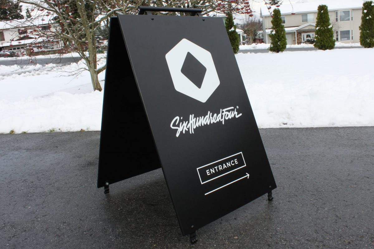 Six Hundred Four Wood Sandwich Board
