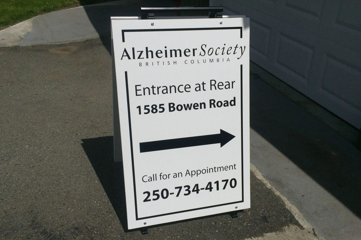 Alzheimer Society Wood Sandwich Board
