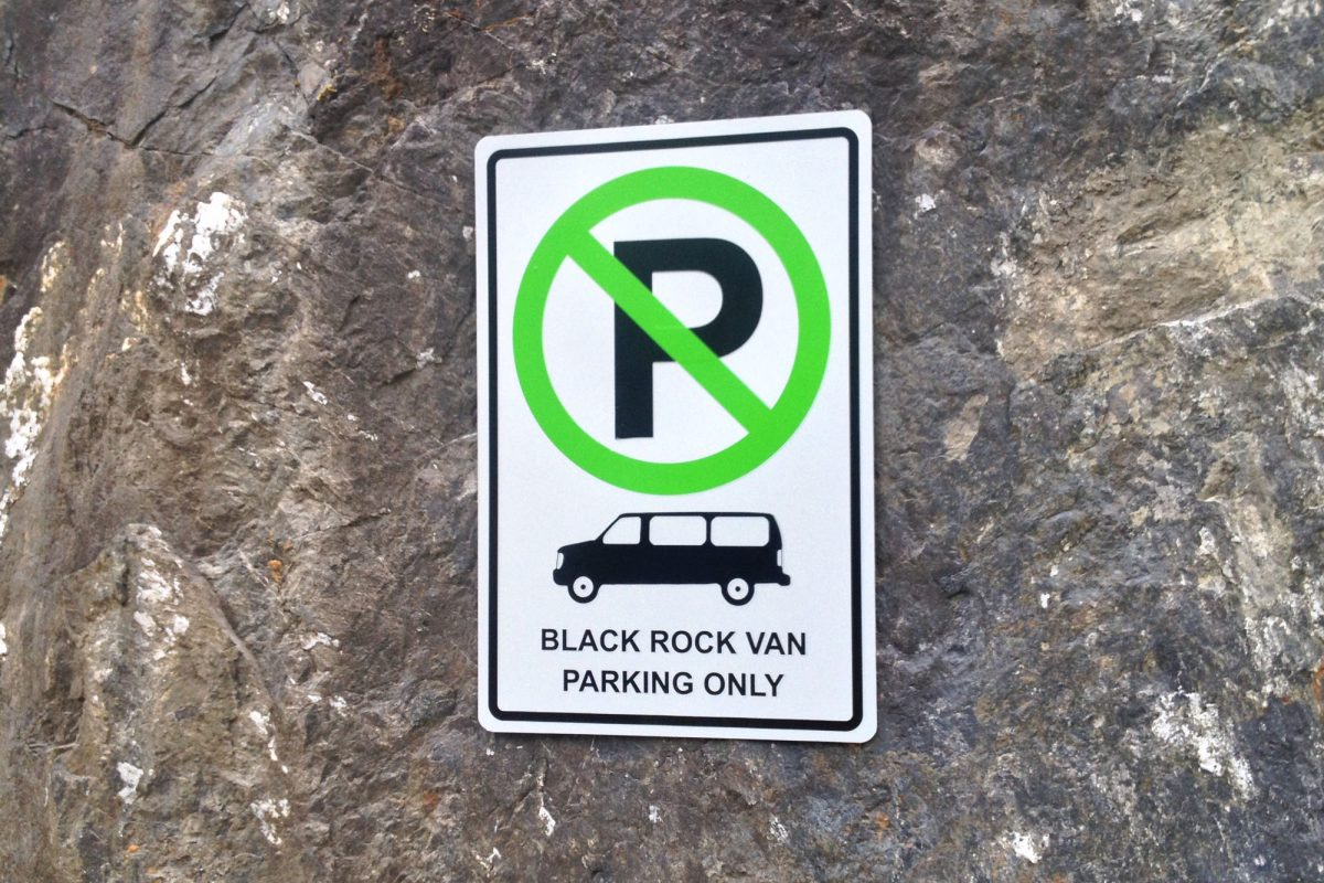Black Rock Resort Parking Sign