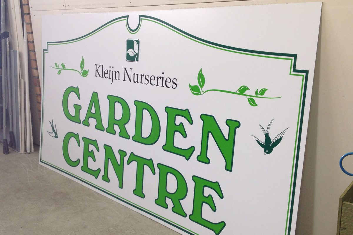 Kleijn Nurseries Aluminum Sign