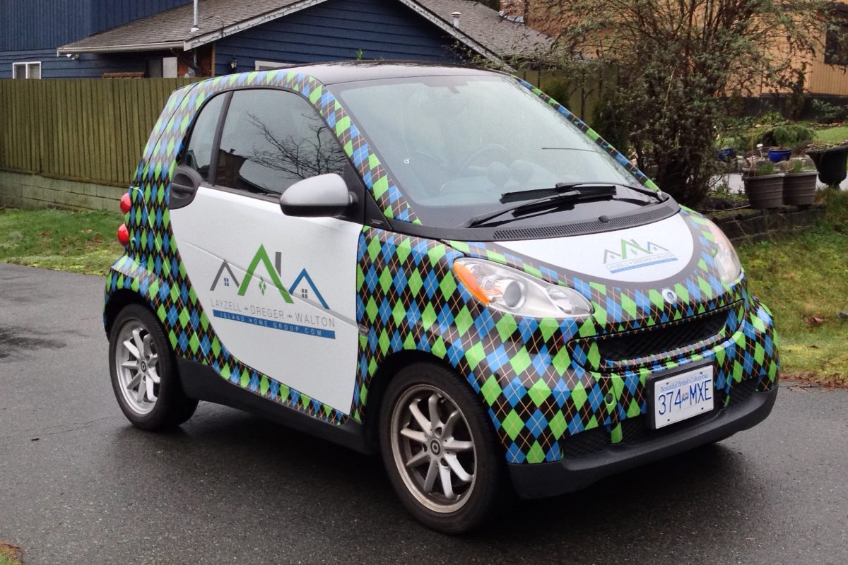 LDW Smart Car Vehicle Wrap