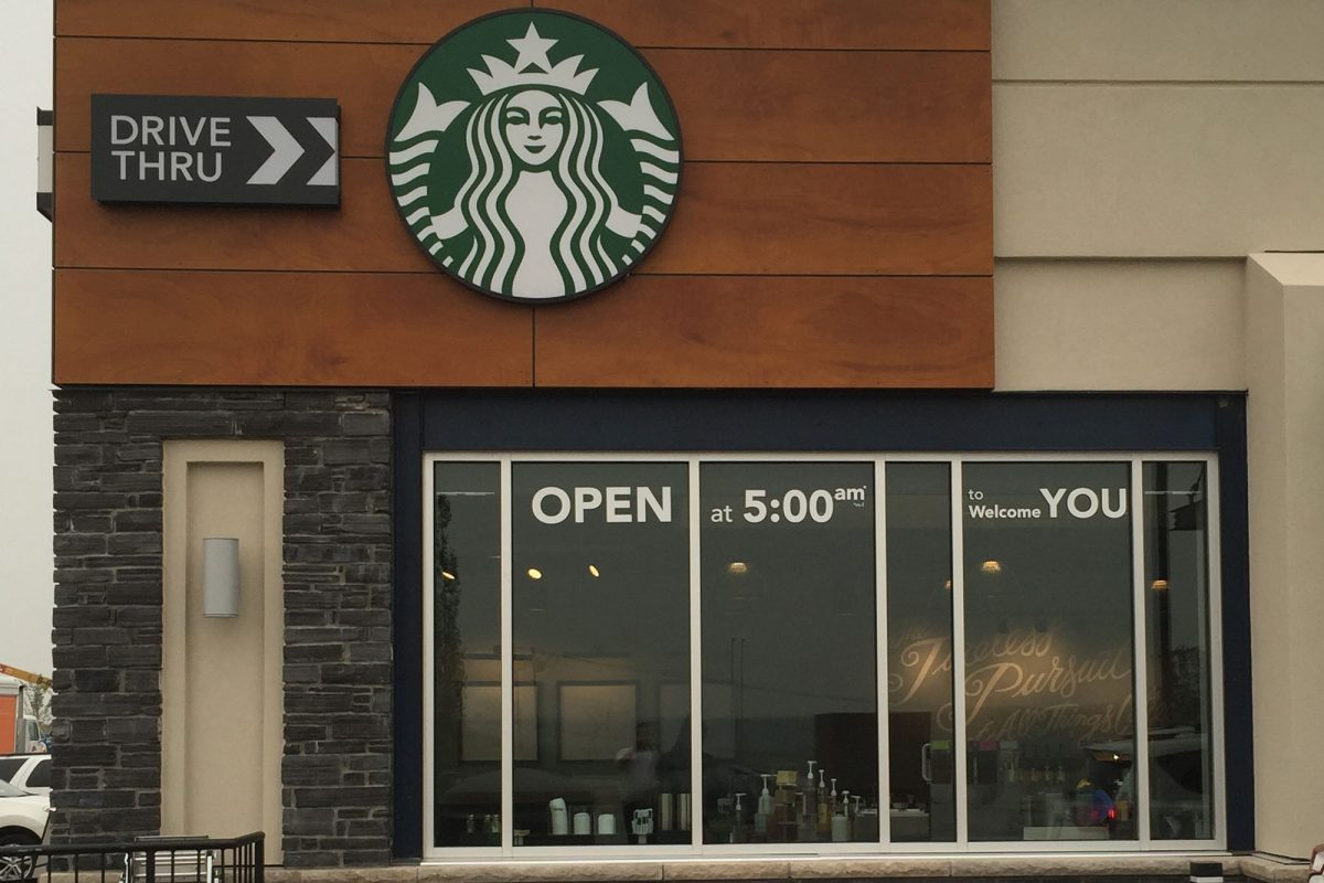 Starbucks Calgary Square Window Decals