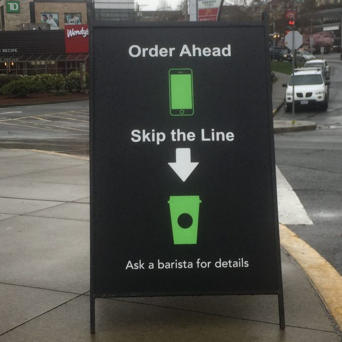 Starbucks Metal A-Frame