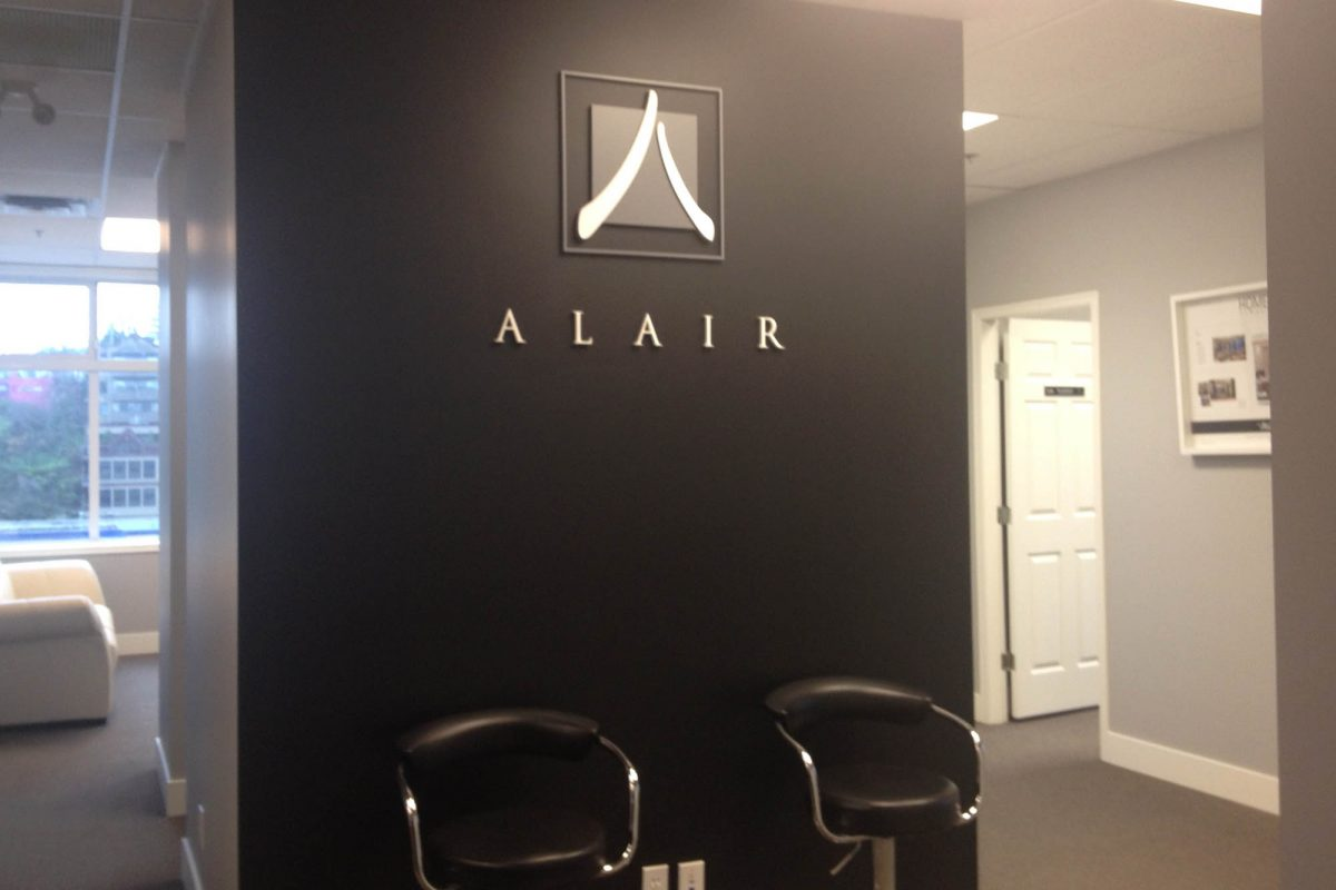 Alair Homes Dimensional PVC Sign 1