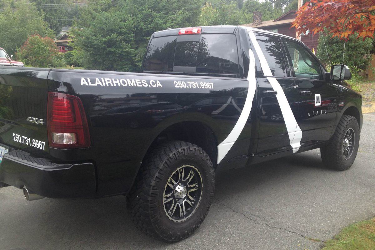 Alair Homes Dodge 1500 c Vehicle Decals