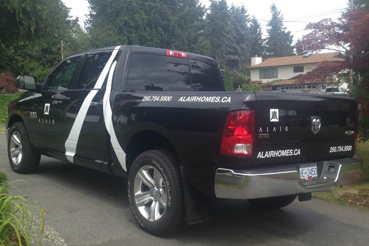 Alair Homes Dodge 1500 d Vehicle Decals