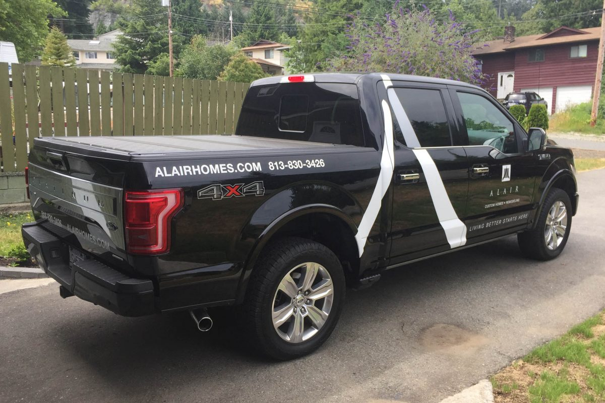 Alair Homes F150 Platinum Vehicle Decals