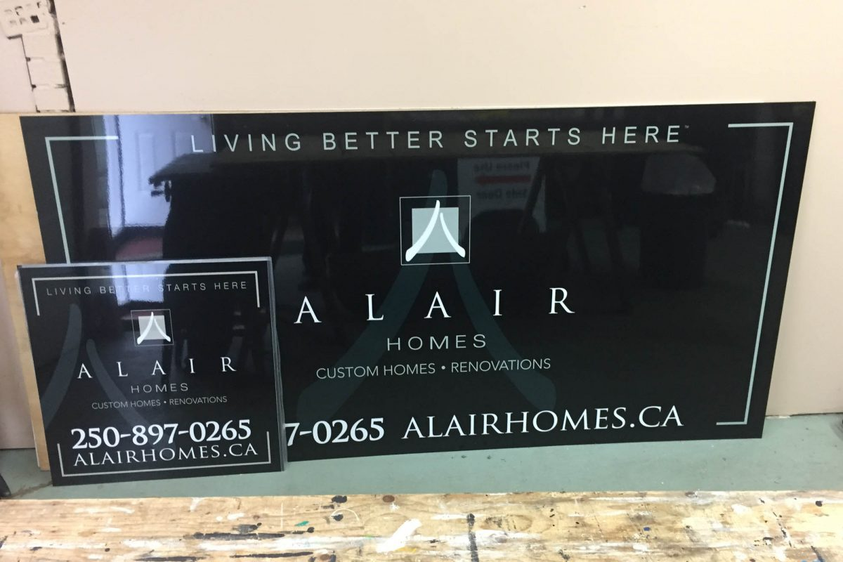 Alair Homes Reflective Solid Aluminium Sign 2