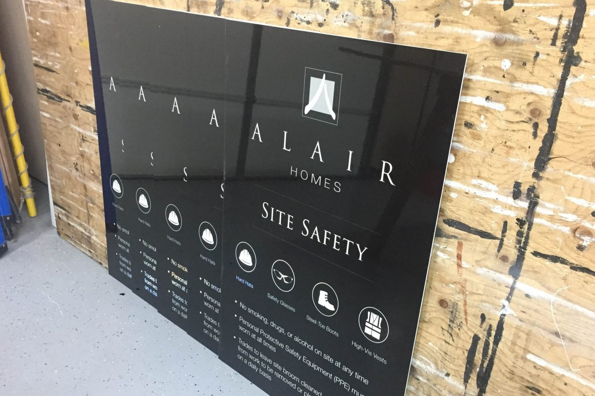 Alair Homes Reflective Solid Aluminium Sign 4