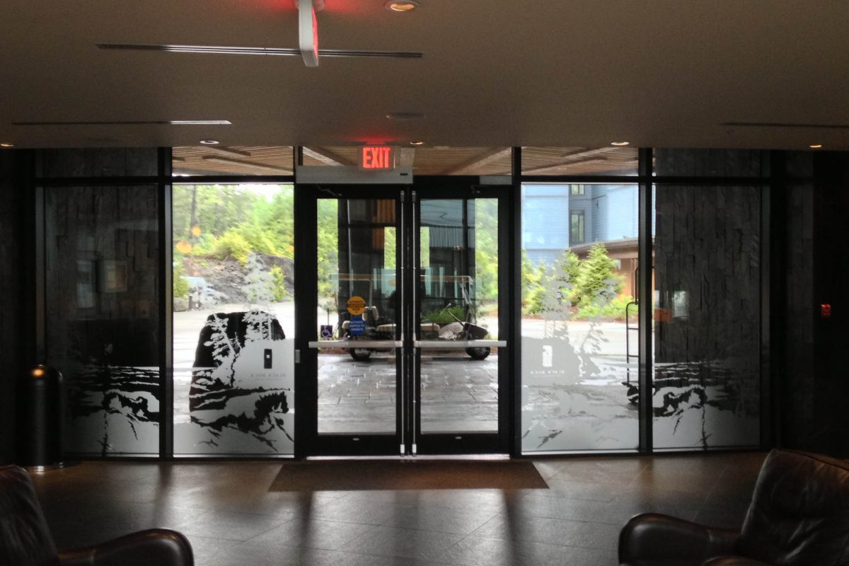 Black Rock Resort Lobby Window Etch Film 3