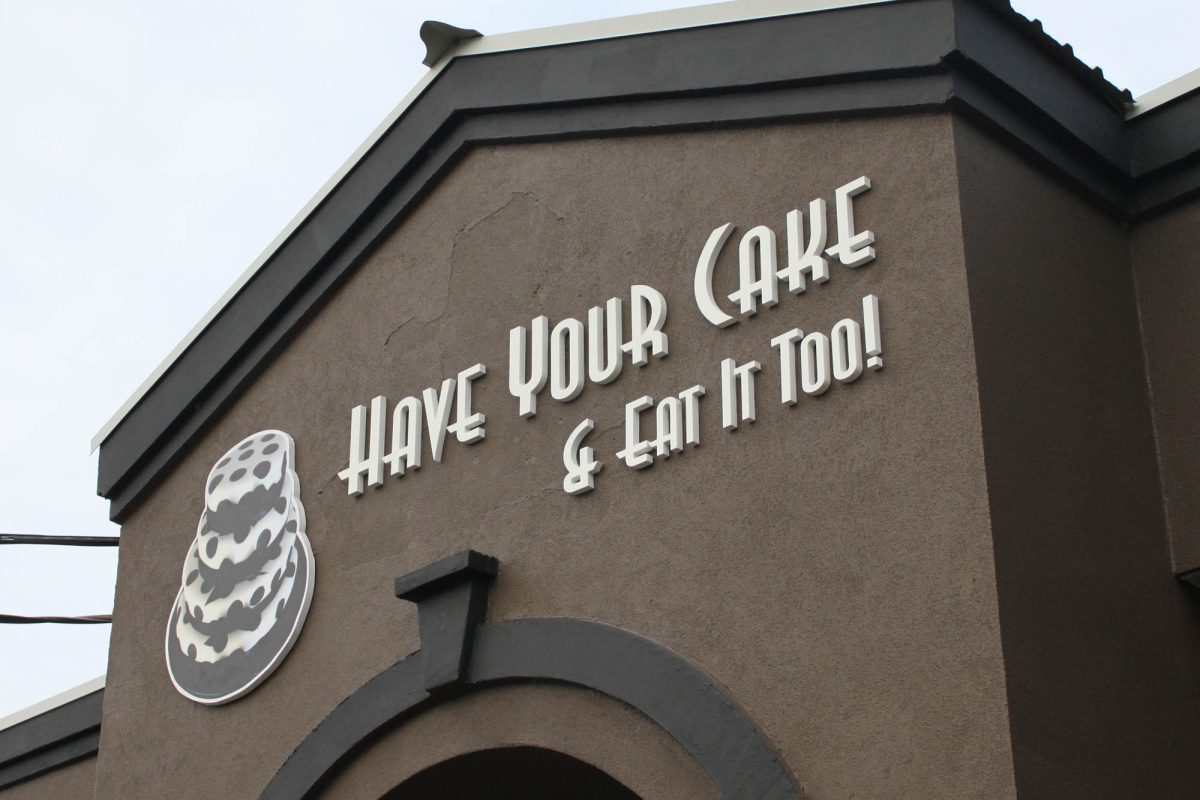 Cake Shop Dimensional Foam Sign