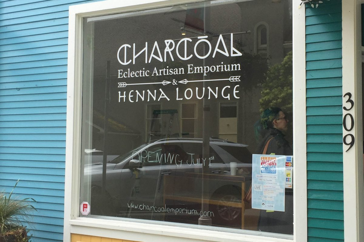 Charcoal Window Decals