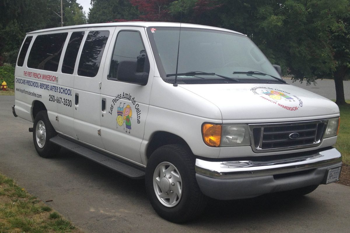 Childcare Van Cut Vinyl Vehicle Decals