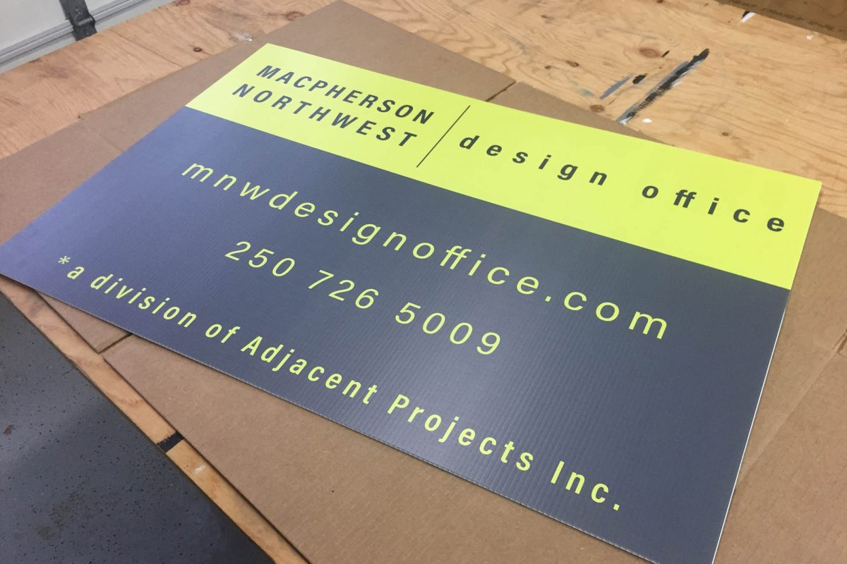 Design Firm Printed Coroplast Sign