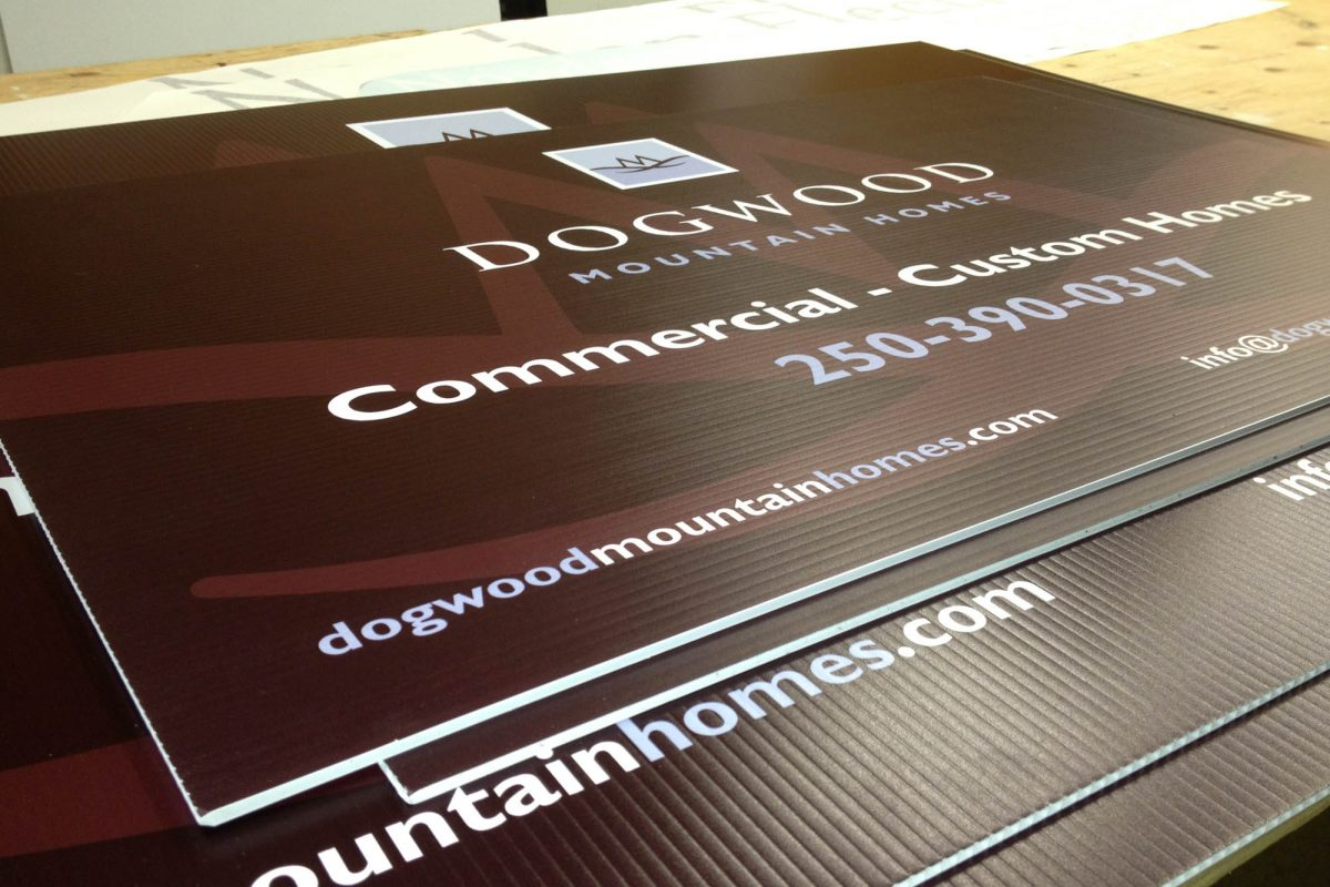 Dogwood Homes Printed Coroplast Signs