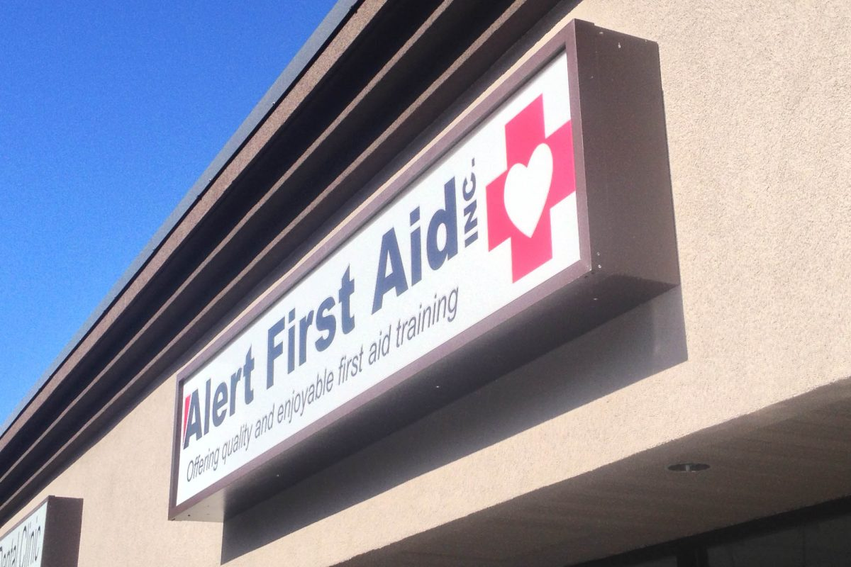 First Aid Back Lit Sign