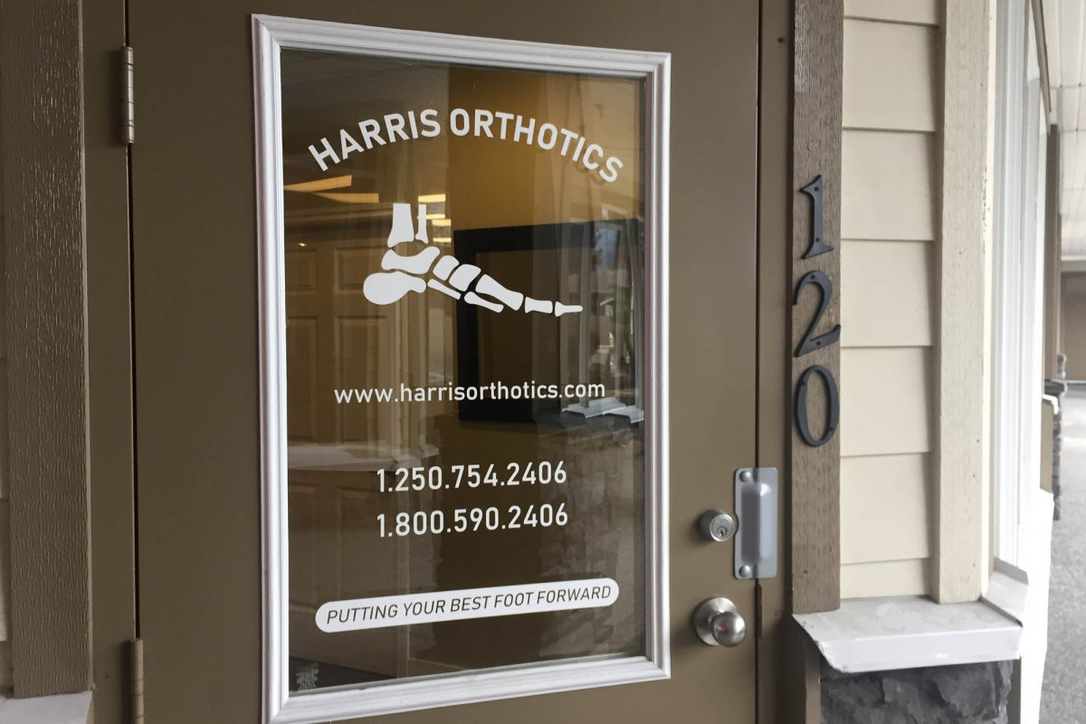 Harris Orthotics Window Decals