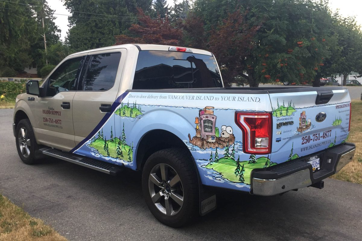 Island Supply Partial Vehicle Wrap 1