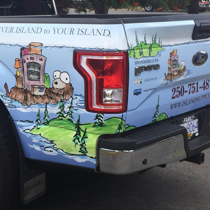 Island Supply Partial Vehicle Wrap 2