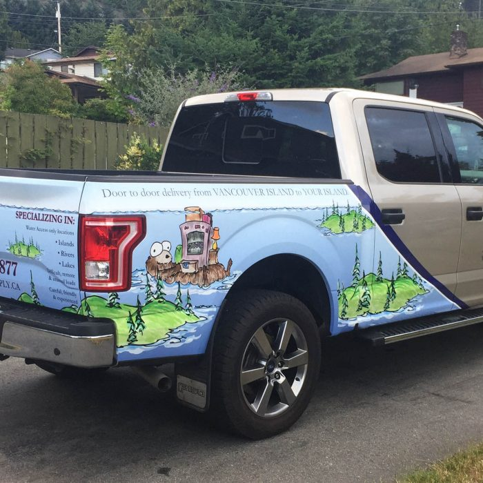 Island Supply Partial Vehicle Wrap 3