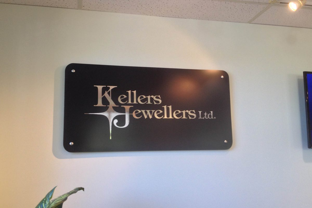 Kellers Jewellers Aluminium Panel Sign