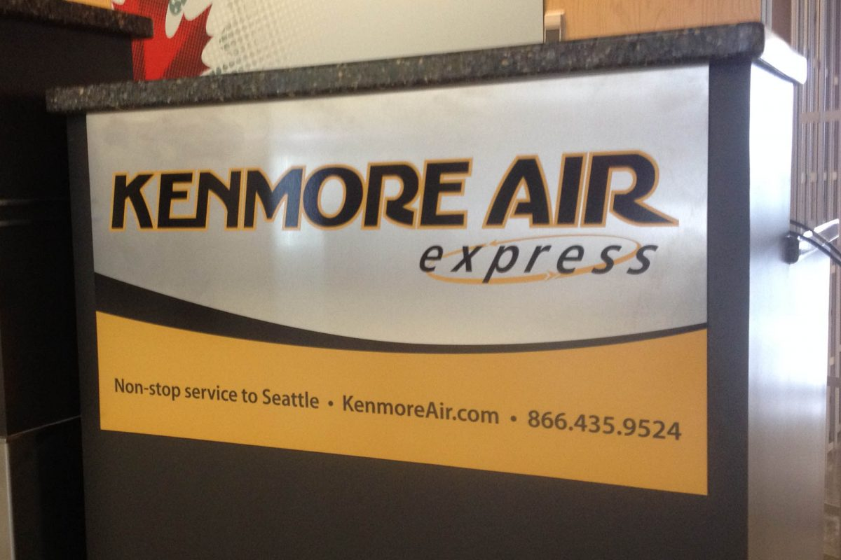 Kenmore Airline Solid Aluminium Sign