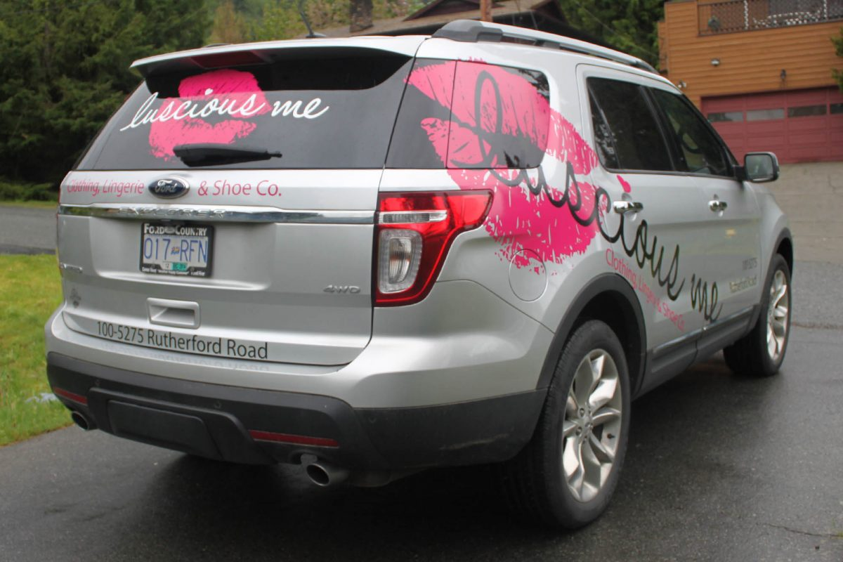 Luscious Me Cut Vinyl Vehicle Decals