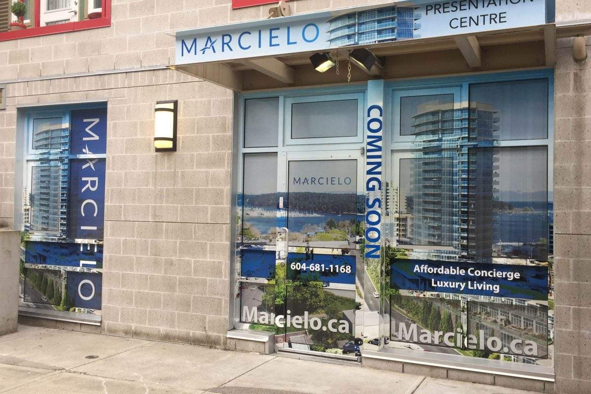 Marcielo Sales Office Perforated Window Film 1