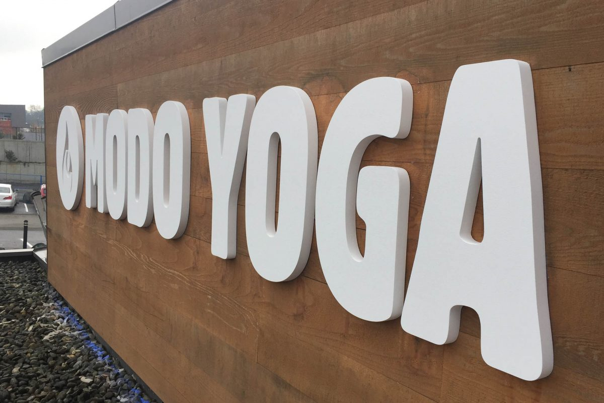 Modo Yoga Dimensional Foam Sign