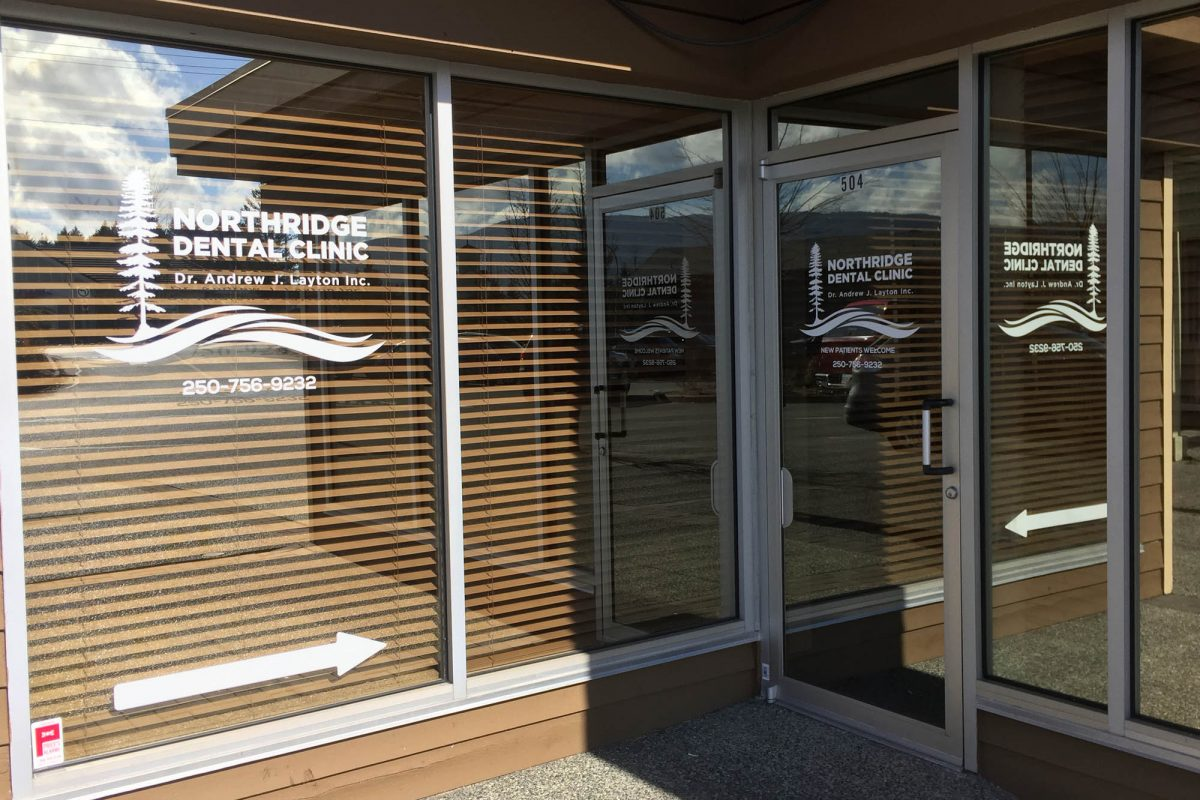 Northridge Dental Clinic Window Decals