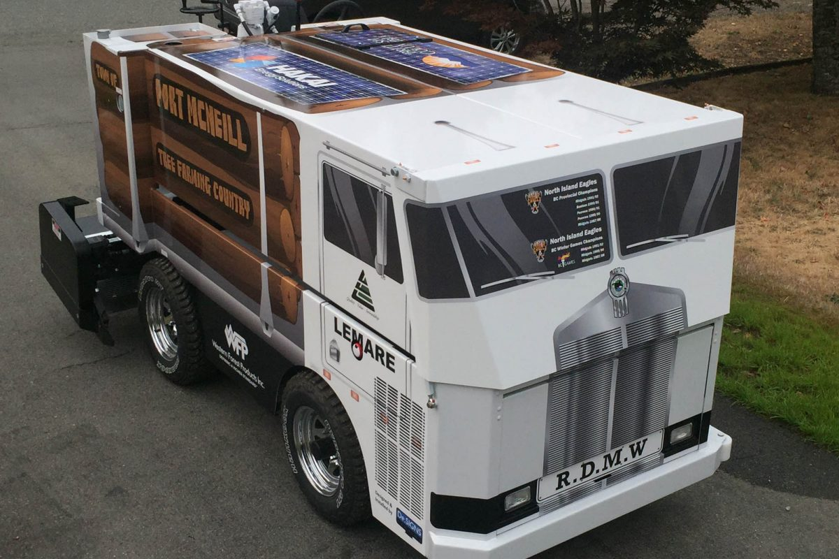 Port McNiell Zamboni Vehicle Wrap 5
