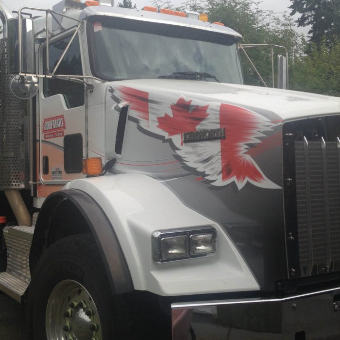 Roofing Truck Vehicle Wrap 1