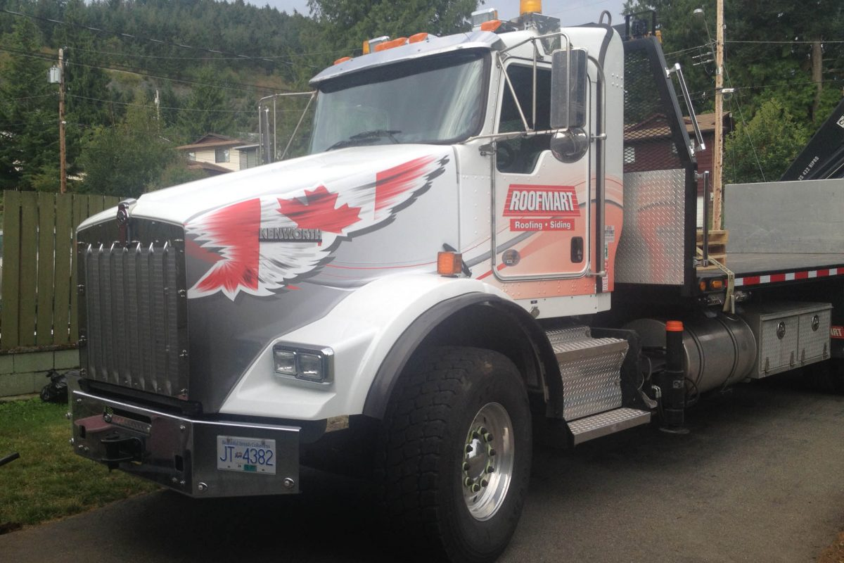 Roofing Truck Vehicle Wrap 2