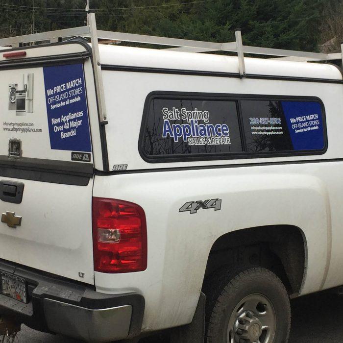 Salt Spring Appliance Partial Vehicle Wrap 1