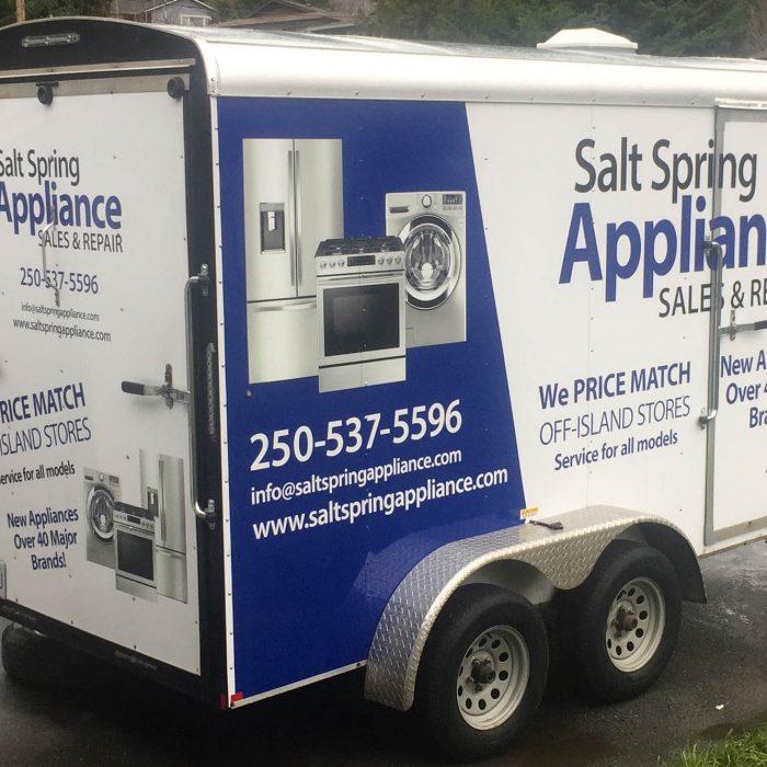 Salt Spring Appliance Partial Vehicle Wrap 2