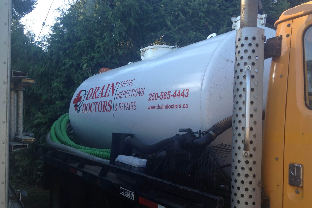 Septic Truck Cut Vinyl Vehicle Decals
