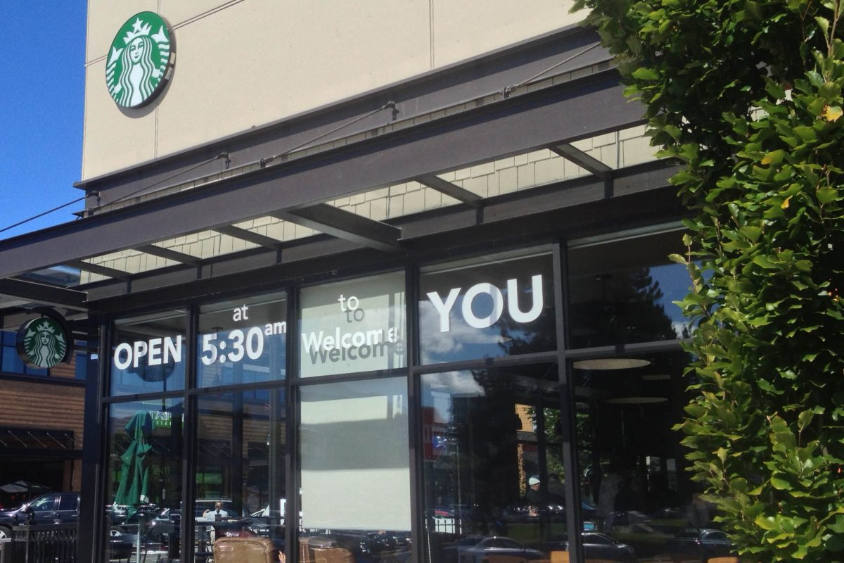 Starbucks Cut Vinyl Window Decals