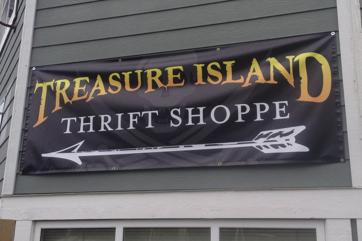 Thrift Shop Outdoor Banner