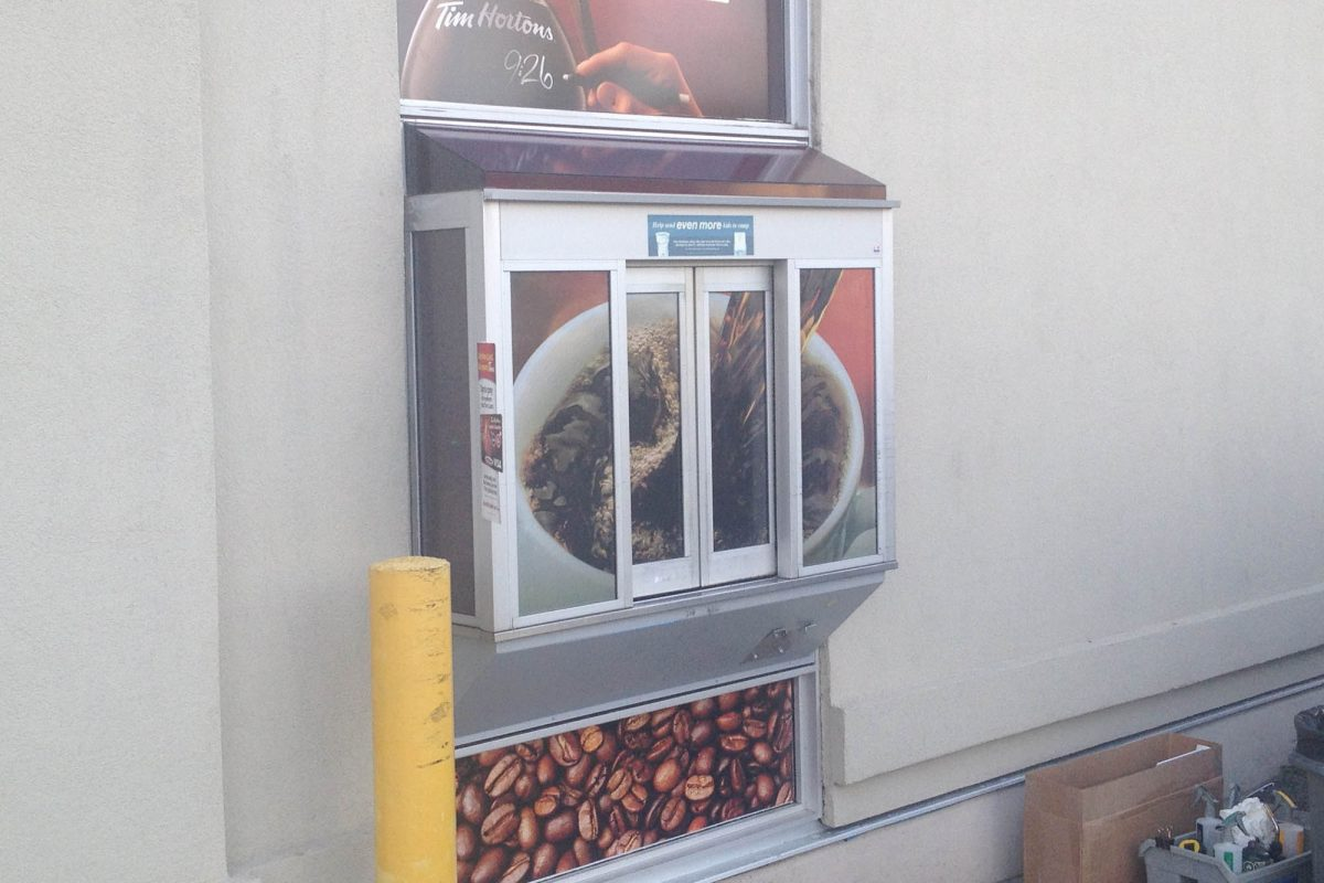 Tim Hortons Nanaimo Perforated Window Film 2