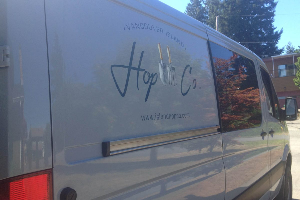 Van Isle Hop Co Print and Cut Vehicle Decals