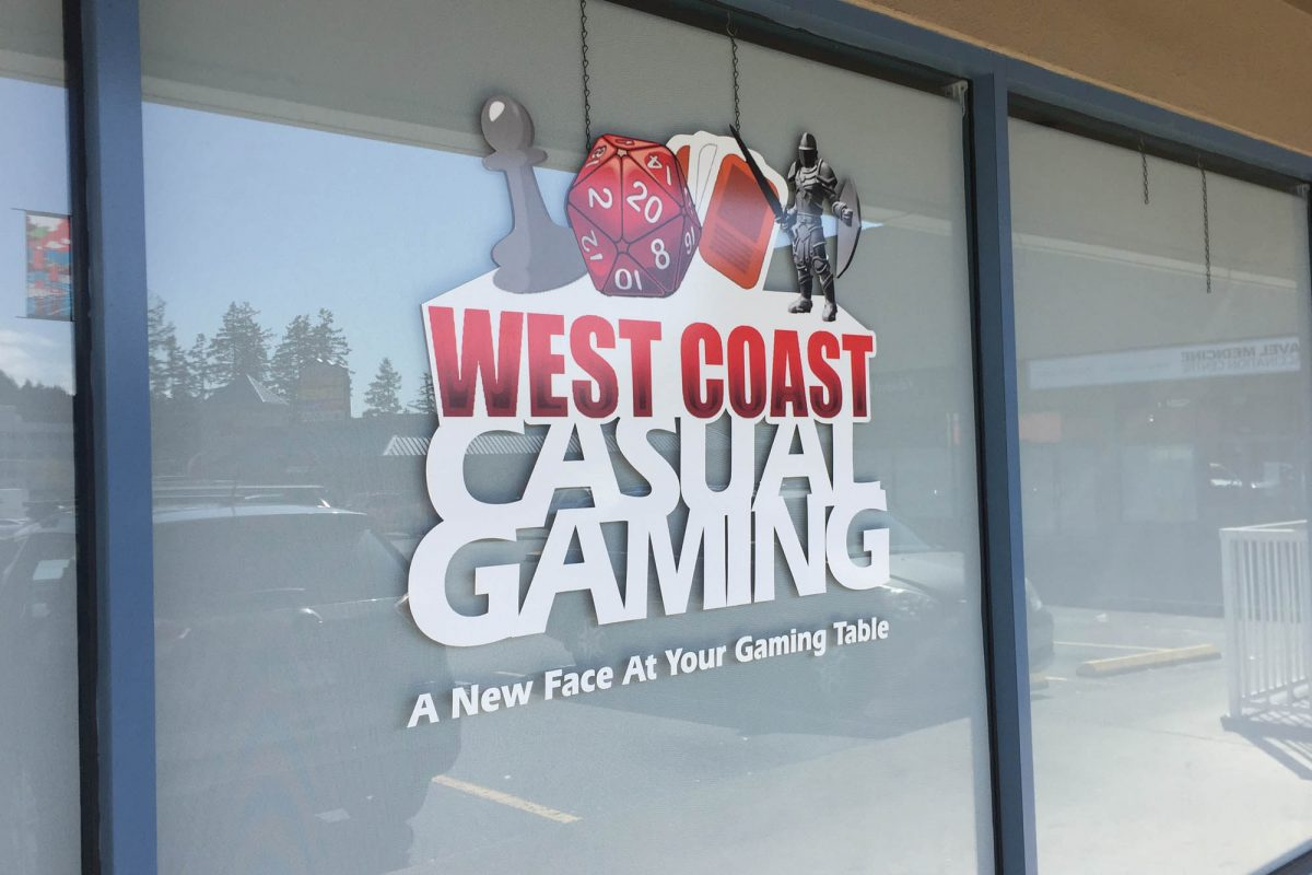 West Coast Casual Gaming Window Decals