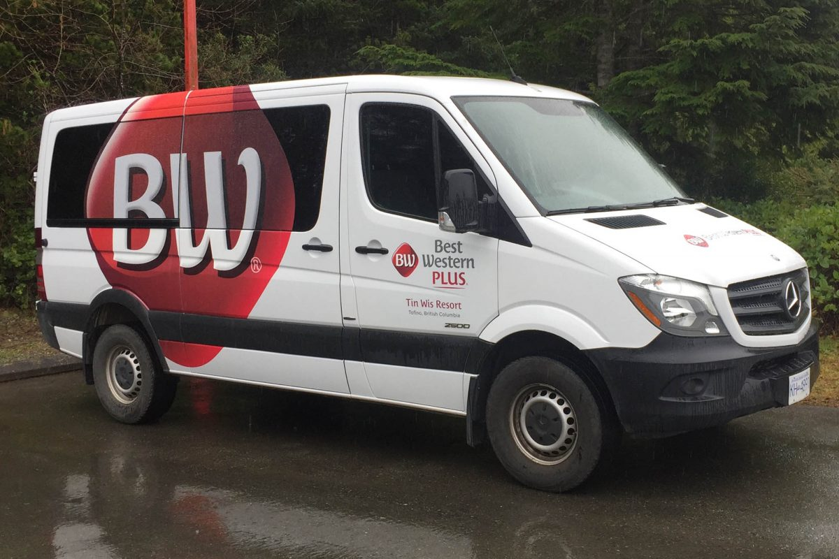 Best Western Tofino Partial Vehicle Wrap 2